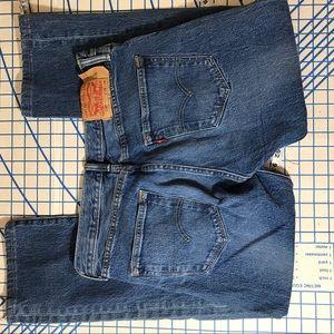 Levi's 501 button fly euc denim jeans w32/ L29